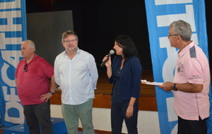 Madame DORVAL  Gloria,  Mr.POMMAREZ, Jean-Pierre PERSILLON, speaker.
